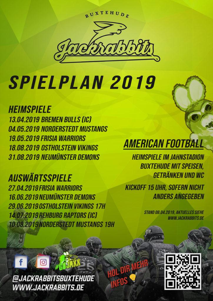 Spielplan 2019 Plakat