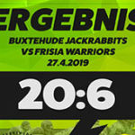 1. Auswärtssieg vs. Frisia Warriors