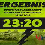 Heimsieg Jackrabbits gegen Ostholstein Vikings